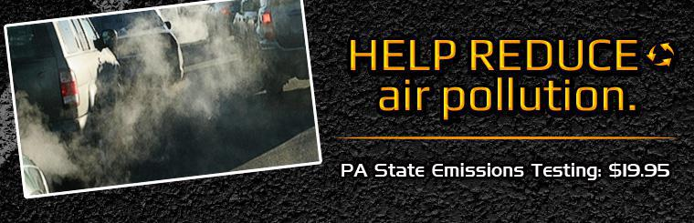 Click here to request a PA state emissions test for only $19.95 and help reduce air pollution!