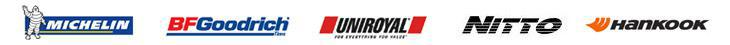 We proudly carry products from Michelin®, BFGoodrich®, Uniroyal®, Nitto, and Hankook.