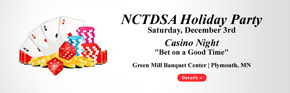 Join us for our NCTDSA Holiday Party on Saturday, December 3rd! Click here for details.