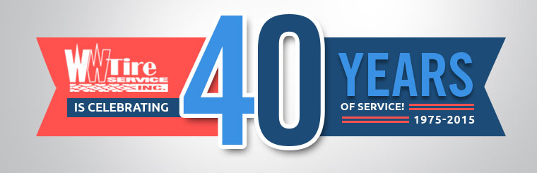 WW Tire Service is celebrating 40 years of service!