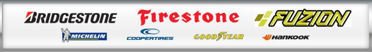 We carry products from Bridgestone, Firestone, Fuzion, Michelin®, Cooper, Goodyear and Hankook
