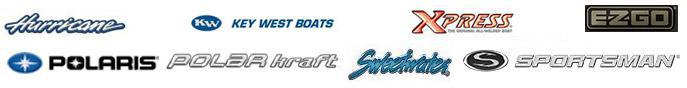 We carry products from Hurricane, Key West Boats, Xpress, EZ Go, Blue Wave, Polar Kraft, Sweetwater Pontoons, Polaris, and Sportsman.