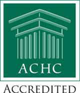 We are accredited by the ACHC