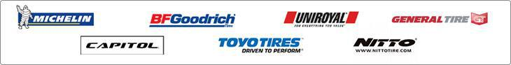 We proudly carry products from Michelin®, BFGoodrich®, Uniroyal®, General, Capitol, Toyo, and Nitto.