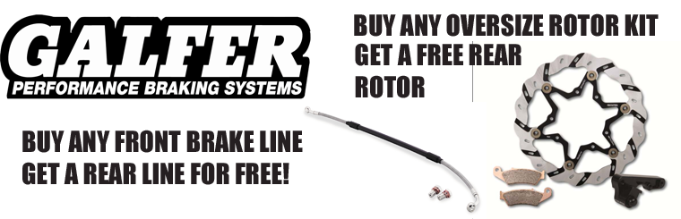 GALFER OVERSIZE ROTOR AND BRAKE LINE SPECIAL