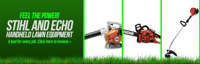 Browse STIHL and ECHO handheld lawn equipment.