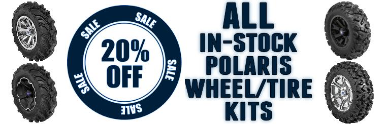 20% Off All In Stock Polaris Wheel Tire Kits