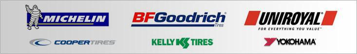 We proudly offer products from Michelin®, BFGoodrich®, Uniroyal®, Cooper, Kelly, and Yokohama.