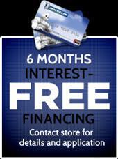 6 months interest-free financing! Contact store for details and application.