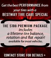 Get the best Performance from your tires with a Bestway Tire Care Special