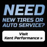 Need new tires or auto service? Visit Kent Performance »