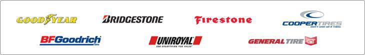 We proudly carry products from Goodyear, Bridgestone, Firestone, Cooper Tires, BFGoodrich, Uniroyal, and General Tire.