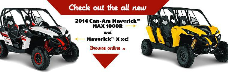 Check out the new 2014 Can-Am Maverick™ MAX 1000R and Maverick™ X xc!