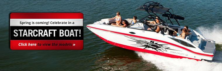 Spring is coming! Celebrate in a Starcraft boat! Click here to view the models.