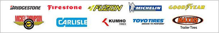 We offer products from Bridgestone, Firestone, Fuzion, Michelin, Goodyear, Mickey Thompson, Carlisle, Kuhmo, Toyo and Maxxis.