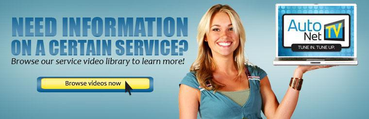 Need information on a certain service? Browse our service video library to learn more!