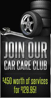 Join Our Car Care Club $450 worth of services for $129.95