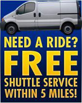 Need a Ride? Free Shuttle Service within 5 miles.