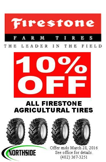 10% OFF on All Firestone Agricultural Tires