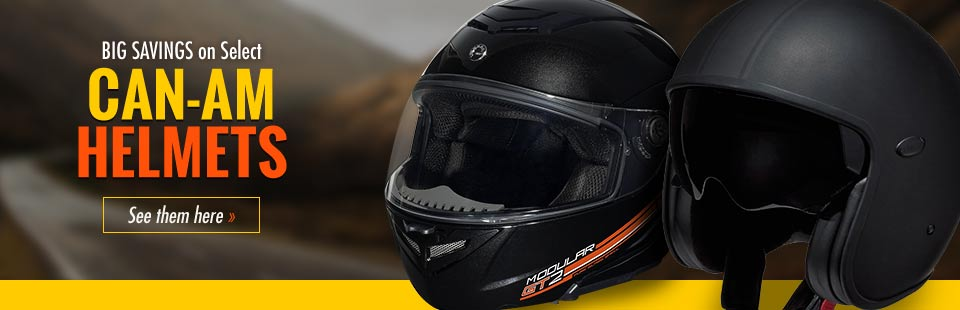 Get big savings on select Can-Am helmets! Click here to see our selection.