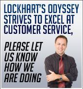 Lockhart's Odyssey strives to excel at customer service, please let us know how we are doing.