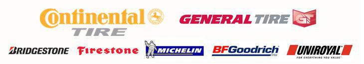 We carry products from Continental, General, Bridgestone, Firestone, Michelin®, BFGoodrich®, Uniroyal®.