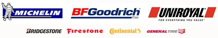 We carry products from Michelin®, BFGoodrich®, Uniroyal®. Bridgestone, Firestone, Continental, and General.