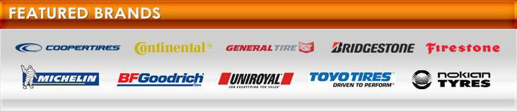 We proudly carry products from Cooper, Continental, General, Bridgestone, Firestone, Michelin®, BFGoodrich®, Uniroyal®, Toyo Tires, and Nokian.