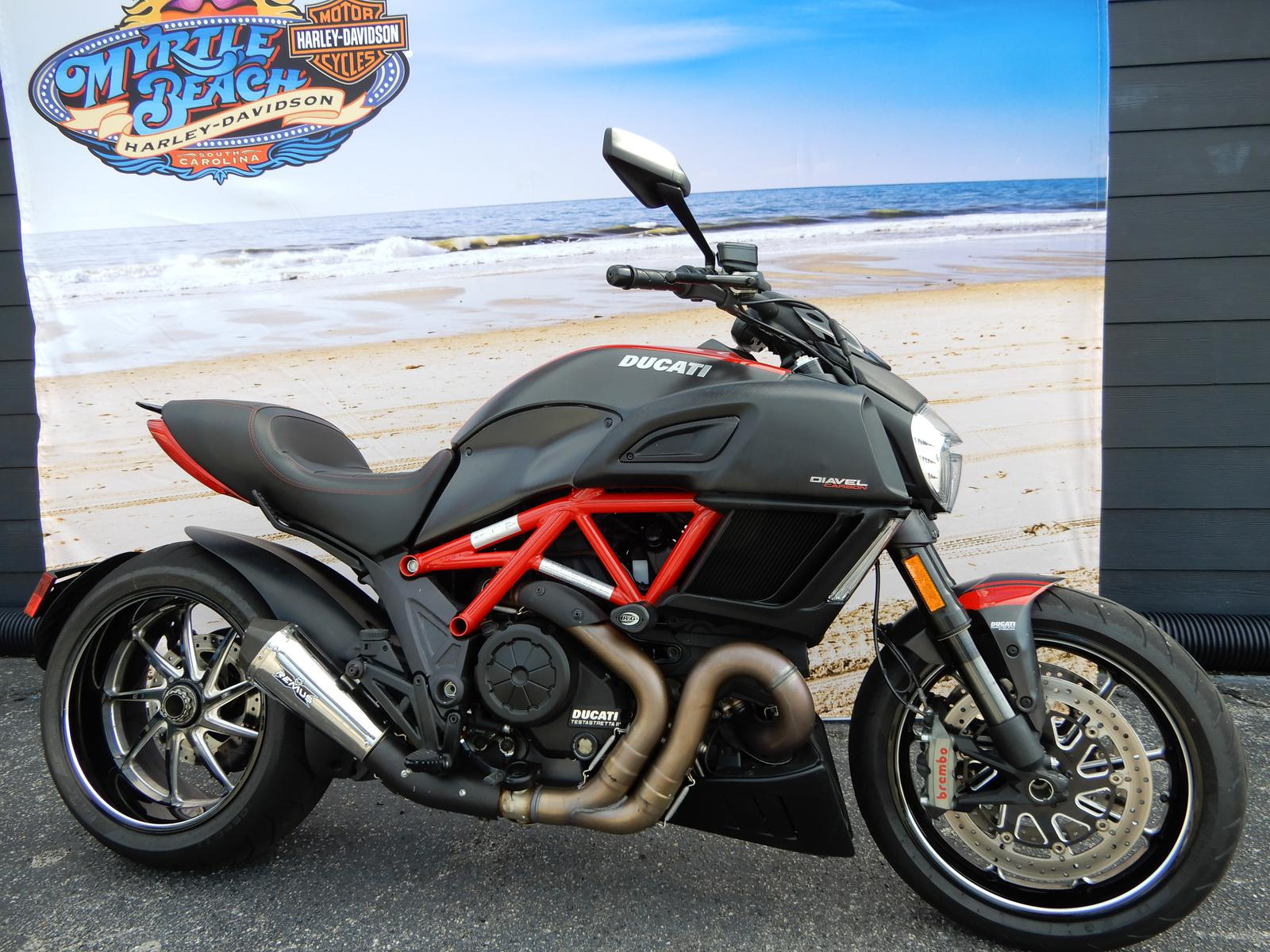 2015 Ducati Diavel Carbon Red And Matte Carbon For Sale In Myrtle
