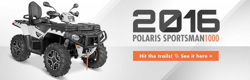 2016 Polaris Sportsman 1000: Click here to view the model.