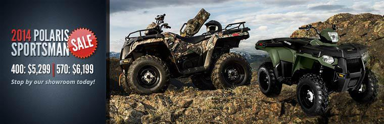 2014 Polaris Sportsman Sale: Stop by our showroom today!