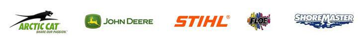 We carry products from Arctic Cat, John Deere, STIHL, Floe, and ShoreMaster.