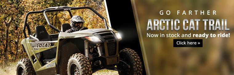 The 2014 Arctic Cat Wildcat Trail is now in stock and ready to ride! Click here to view the model.