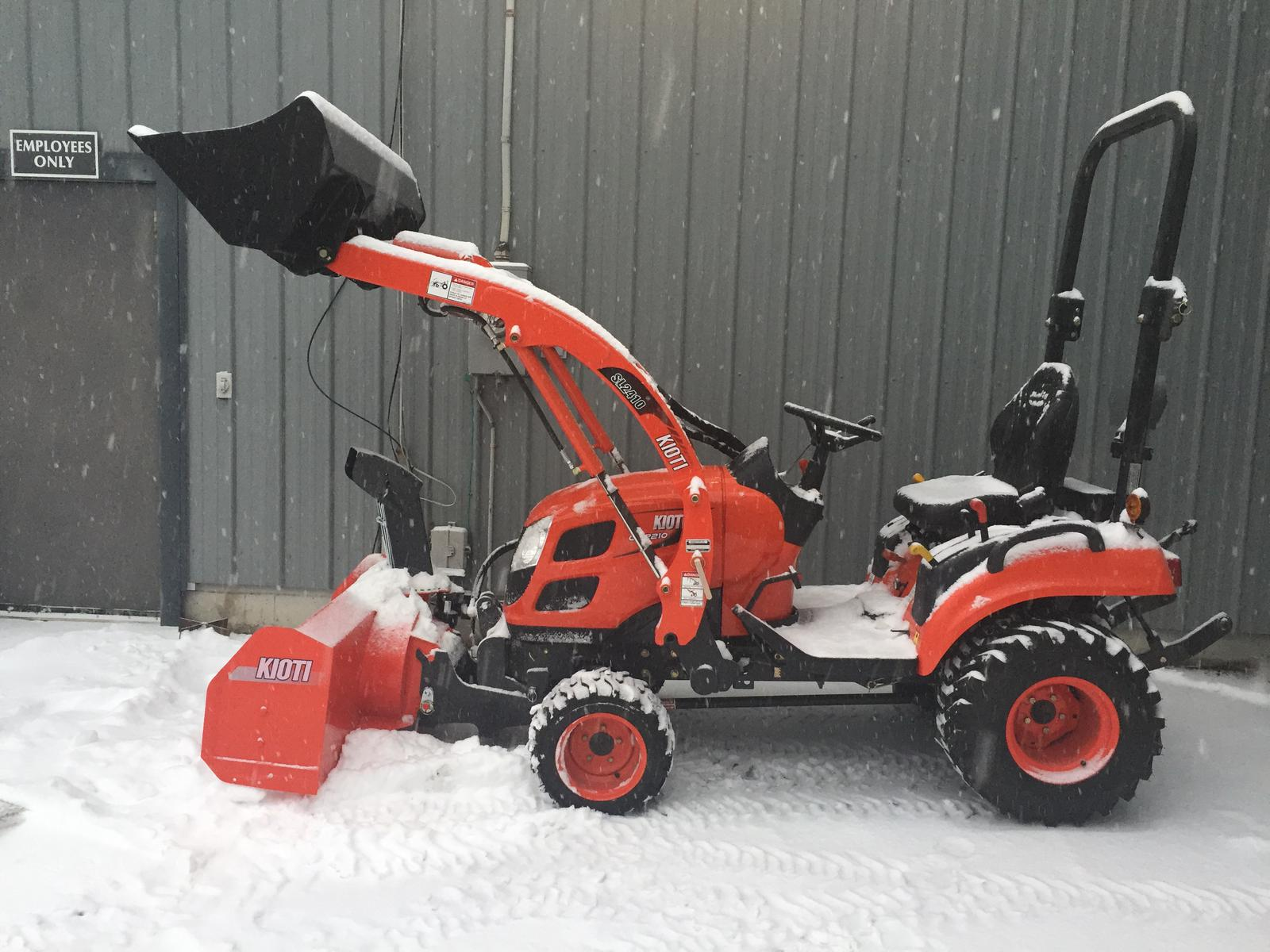 Kioti CS2210 HST Tractor Loader & Front Mount Snowblower for sale in