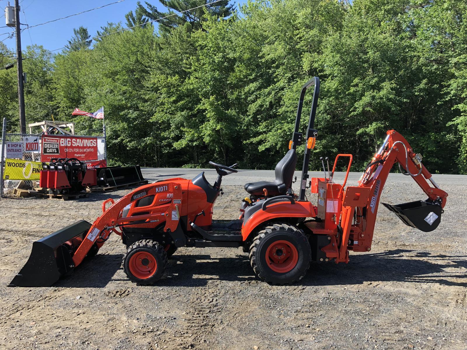 Kioti CS2210S 4x4 Tractor w/ Loader & Backhoe for sale in