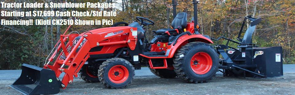 Kioti Tractor Snowblower Packages