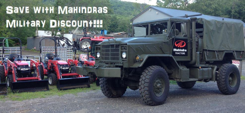 Mahindra Military Discount