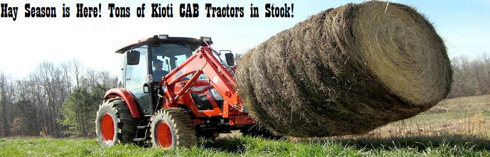 Kioti Cab Tractors in stock for Hay Season!