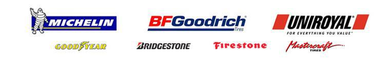 We carry products from Michelin®, BFGoodrich®, Uniroyal®, Goodyear, Bridgestone, Firestone, and Mastercraft.