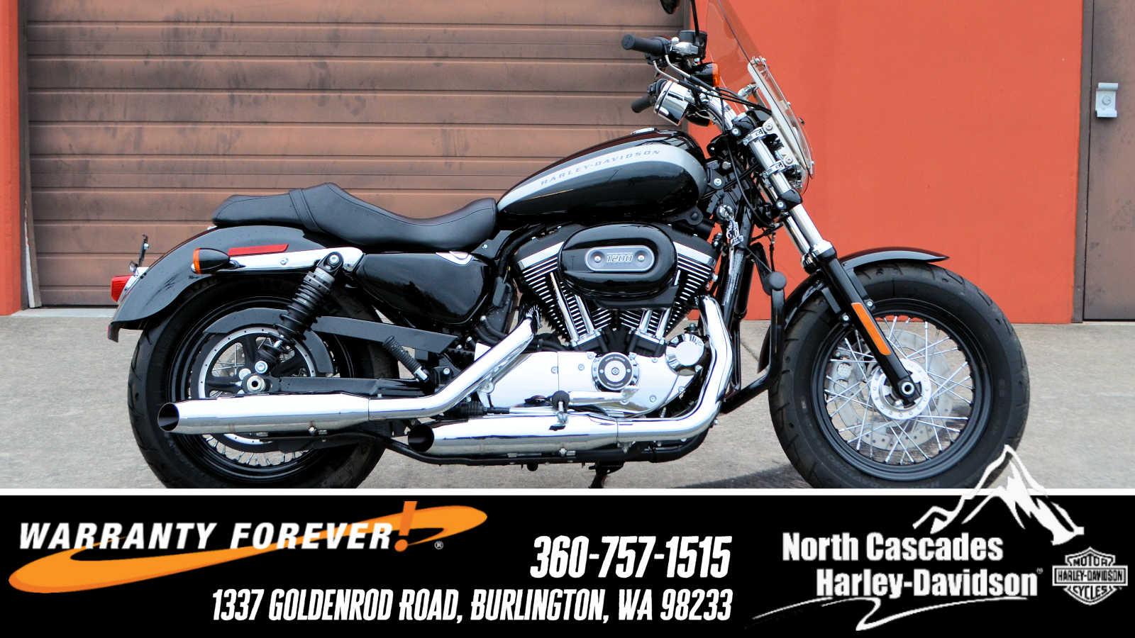 2018 Harley Davidson 1200 Custom Black For Sale In Burlington Wa