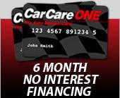 Car Care One Credit Card Financing