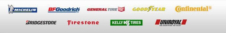 We proudly carry products from Michelin®, BFGoodrich®, General, Goodyear, Continental, Bridgestone, Firestone, Kelly, and Uniroyal®.