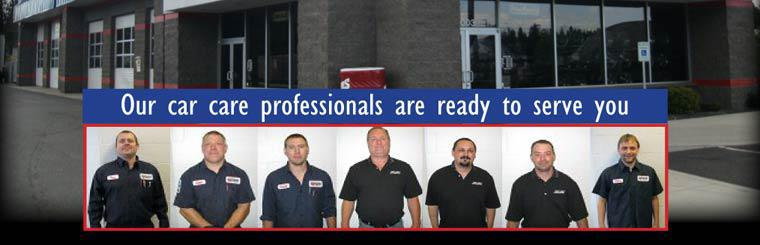 Our car care professionals are ready to serve you!