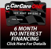 Car Care One 6 Month No Interest Financing