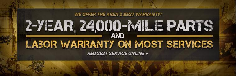 We offer the area's best warranty!