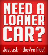 Need a loaner car? Just ask – they're free!