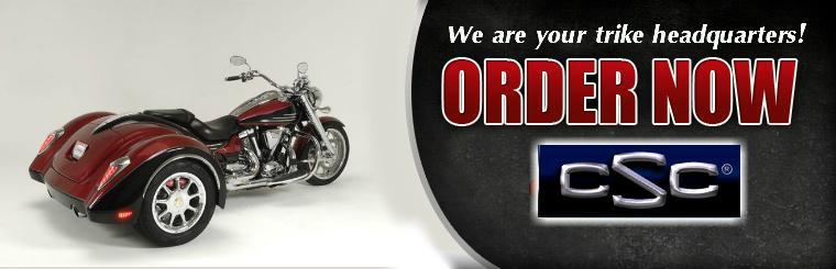 Order now and be ready for riding season! Click here to see trike conversions.