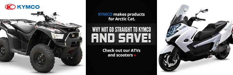 KYMCO makes products for Arctic Cat. Why not go straight to KYMCO and save! Click here to view ATVs and scooters.