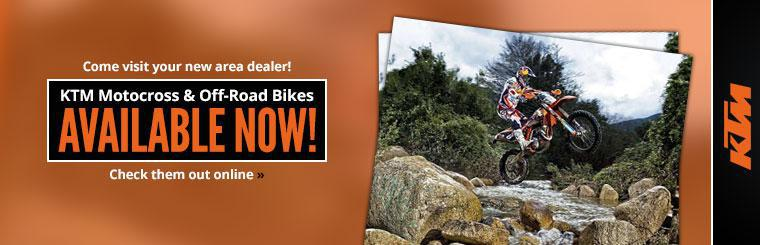 KTM Motocross and Off-Road Bikes Available Now: Click here to check them out online.