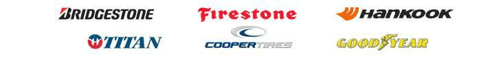 We carry tires from Bridgestone, Firestone, Hankook, Titan, Cooper, and Goodyear.